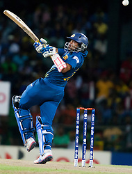 © Licensed to London News Pictures. 04/10/2012. Sri Lankan .Tillakaratne Dilshan batting during the World T20 Cricket Mens Semi Final match between Sri Lanka Vs Pakistan at the R Premadasa International Cricket Stadium, Colombo. Photo credit : Asanka Brendon Ratnayake/LNP