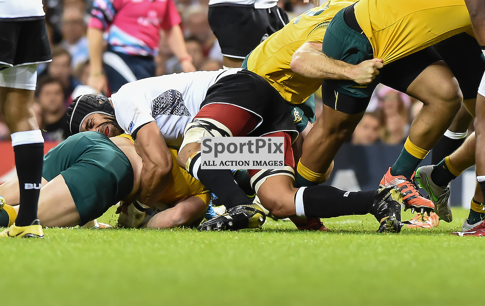 David Pocock crosses for his second try of the game and Australia have a 15-3 lead (c) Simon Kimber | SportPix.org.uk