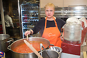 Lidia Bastianich poses for a photograph at Eataly Scuolo pasta cooking class