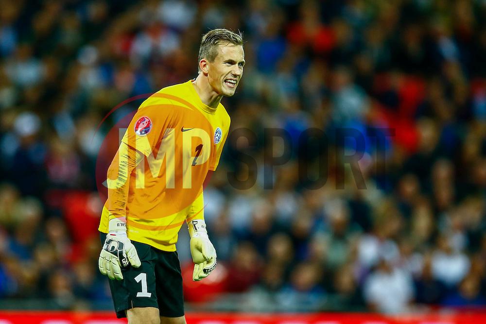 Mihkel Aksalu of Estonia - Mandatory byline: Jason Brown/JMP - 07966 386802 - 09/10/2015- FOOTBALL - Wembley Stadium - London, England - England v Estonia - Euro 2016 Qualifying - Group E