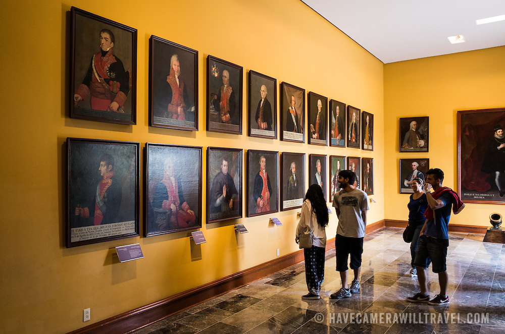 Portraits on display at Chapultepec Castle. Since construction first started around 1785, Chapultepec Castle has been a Military Academy, Imperial residence, Presidential home, observatory, and is now Mexico's National History Museum (Museo Nacional de Historia). It sits on top of Chapultepec Hill in the heart of Mexico City.