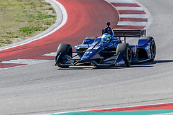 February 12, 2019 - U.S. - AUSTIN, TX - FEBRUARY 12: RC Enerson (23) in a Chevrolet powered Dallara IR-12 exits turn 2 during the IndyCar Spring Training held February 11-13, 2019 at Circuit of the Americas in Austin, TX. (Photo by Allan Hamilton/Icon Sportswire) (Credit Image: © Allan Hamilton/Icon SMI via ZUMA Press)