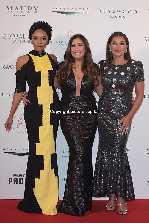 Bonang M,Maria Bravo,Vanessa Williams Arrive The Nelson Mandela Foundation hosts dinner in memory of Nelson Mandela on what would have been the day before his 100 birthday on 24 April 2018 at Rosewood Hotel, London, UK.