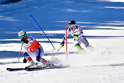 CIVADE Thomas, Guide: LARMET Kerwan, B3, FRA, Slalom at the WPAS_2019 Alpine Skiing World Cup, La Molina, Spain
