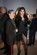 DAWKA PELLING; PAULA RAE GIBSON; Sotheby's Erotic sale cocktail party, Sothebys. London. 14 February 2018