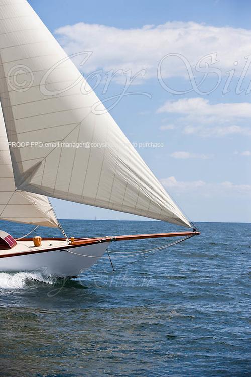 Nellie sailing in the Corinthian Classic Yacht Regatta.