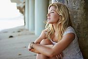 Jackie Johnson at her Malibu Beach house, photographed by Oscar Zagal