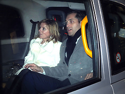 Geri Halliwell leaving with mystery man after seeing Sleeping Beauty ballet, the Coliseum, London, UK, January 10, 2013. Photo by Pixel8000 / i-Images.