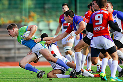 Michael Kovacic of Slovenia during rugby match between National team of Slovenia (green-blue) and Serbia (red-white) at EUROPEAN NATIONS CUP 2016-17, Conference 2, South, on October 29, 2016, at ZAK Stadium, Ljubljana, Slovenia. Photo by Matic Klansek Velej / Sportida