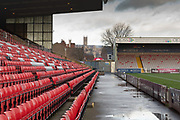 Cathedral view from main stand before the EFL Sky Bet League 1 match between Lincoln City and Tranmere Rovers at Sincil Bank, Lincoln, United Kingdom on 14 December 2019.
