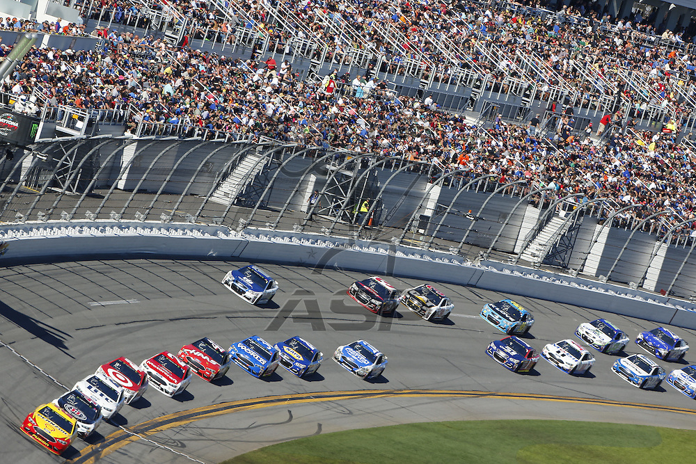 February 26, 2017 - Daytona Beach, Florida, USA: Joey Logano (22) races for the Daytona 500 at Daytona International Speedway in Daytona Beach, Florida.