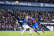 West Bromwich Albion (3) Kieran Gibbs, Crystal Palace #17 Christian Benteke during the Premier League match between West Bromwich Albion and Crystal Palace at The Hawthorns, West Bromwich, England on 2 December 2017. Photo by Sebastian Frej.