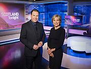 Pic Courtesy STV Press Office 21.04.17 <br /> STV Scotland Tonight Presenters John Mackay &amp; Rona Dougall<br /> Anna Hendry | PR Executive | Tel: 0141 300 3830 <br /> email: anna.hendry@stv.tv | website: www.stv.tv I Twitter: @STVPress<br /> STV | Pacific Quay  |  Glasgow  |  G51 1PQ  | switchboard: 0141 300 3000 <br /> Katie Martin  PR and communications manager | Tel: 0141 300 3670 | website: www.stv.tv | Twitter: @STVPress <br /> STV | Pacific Quay  |  Glasgow  |  G51 1PQ  | switchboard: 0141 300 3000 <br /> <br /> Graeme Hunter Pictures,<br /> Sunnybank Cottages, 117 Waterside Rd, <br /> Carmunnock, Glasgow. U.K.  G76 9DU. <br />  t.07811946280 e.graemehunter@mac.com