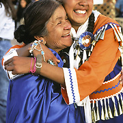 Native Americans, Zuni, Two happy Zuni's ( grandmother and Granddaughter) @ Navajo Fair / Pow-Wow in Window Rock, AZ