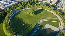United States, Washington, Bellevue, Bellevue Downtown Park (aerial)
