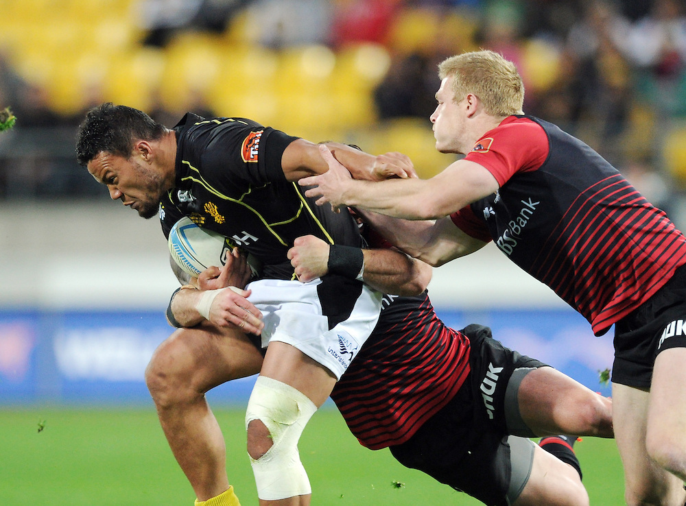 Wellingtons' Alapati Leiua against Canterbury in the ITM Cup Rugby Premiership Final at Westpac Stadium, Wellington, New Zealand, Saturday, October 26, 2013. Credit:SNPA / Ross Setford