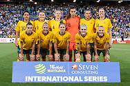 NEWCASTLE, NSW - NOVEMBER 13: Australian team photo at the international women's soccer match between Australia and Chile at McDonald Jones Stadium in NSW, Australia. (Photo by Speed Media/Icon Sportswire)