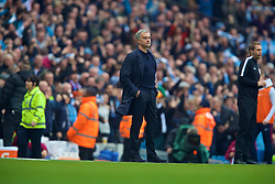 MANCHESTER, ENGLAND - Saturday, April 7, 2018: Manchester United's manager Jose Mourinho looks dejected as Manchester City score the second goal during the FA Premier League match between Manchester City FC and Manchester United FC at the City of Manchester Stadium. (Pic by David Rawcliffe/Propaganda)