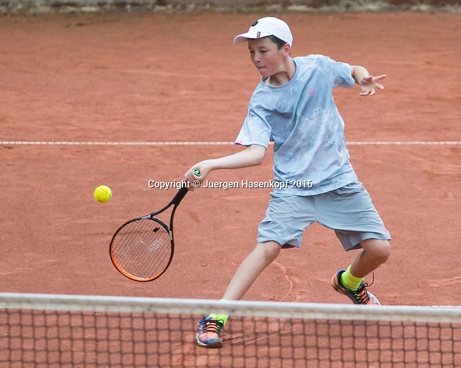 Tennis Europe-Bavarian Junior Open, Max Hans Reberg (GER)  BS14<br /> <br /> Tennis - Bavarian Junior Open 2016 - Tennis Europe Junior Tour -  SC Eching - Eching - Bayern - Germany  - 9 August 2016. <br /> &copy; Juergen Hasenkopf