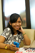 Catharina Ikawati is 27 years old and is already running two successful businesses.<br /> <br /> The first, a German language school, she established three years ago to teach student who were going to Germany on a government approved au pair scheme.<br /> <br /> After signing up to the Usaha Wanita app she started to think about how she could use her spare time more effectively and so she became a make-up salesperson. Not only does she sell herself, she recruits others sellers so she earns commission in a number of ways. With her increased profit she has been able to start supporting her parents with their daily living costs and has bought herself a car.