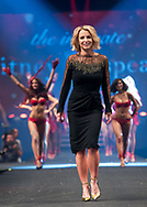 Britney Spears poses on the catwalk in Copenhagen during the Intimate Britney Spears Lingerie Fashion Show