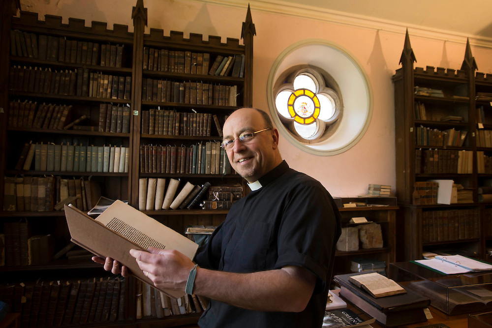 17/05/2013. Cotton Library. Pictured at the Cotton Library, St Carthage's Cathedral , Lismore, County Waterford is the Very Rev Paul Draper. Photo: Patrick Browne