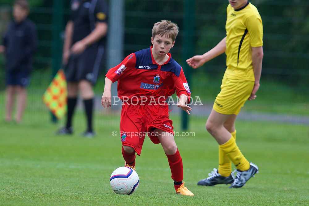 NEWPORT, WALES - Wednesday, May 27, 2015: North WPL Academy Boys' Jack Smith during the Welsh Football Trust Cymru Cup 2015 at Dragon Park. (Pic by David Rawcliffe/Propaganda)