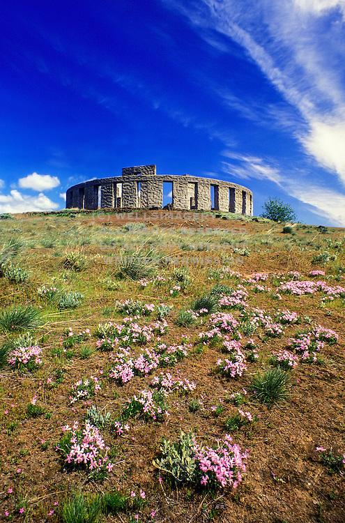 Image of the Maryhill Stonehenge in Maryhill, Washington, Pacific Northwest