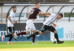 Tilen Mlakar of Triglav vs Klemen Šturm of Mura during football match between NK Triglav and NS Mura in 5th Round of Prva liga Telekom Slovenije 2019/20, on August 10, 2019 in Sports park, Kranj, Slovenia. Photo by Vid Ponikvar / Sportida