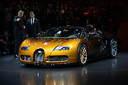 Geneva Motorshow 2013 - Bugatti Veyron is introduced at the VW Group dinner.