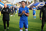 Peterborough defender Ben White (6) claps the fans after the EFL Sky Bet League 1 match between Peterborough United and Burton Albion at London Road, Peterborough, England on 4 May 2019.