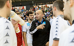 02.11.2016, Arena Nova, Wiener Neustadt, AUT, EHF, Handball EM Qualifikation, Österreich vs Finnland, Gruppe 3, im Bild Dominik Pammer (AUT), Trainer Patrekur Johannesson (AUT)// during the EHF Handball European Championship 2018, Group 3, Qualifier Match between Austria and Finland at the Arena Nova, Wiener Neustadt, Austria on 2016/11/02. EXPA Pictures © 2016, PhotoCredit: EXPA/ Sebastian Pucher