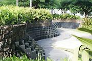 War memorial, State Capitol. Honolulu, Oahu, Hawaii<br />