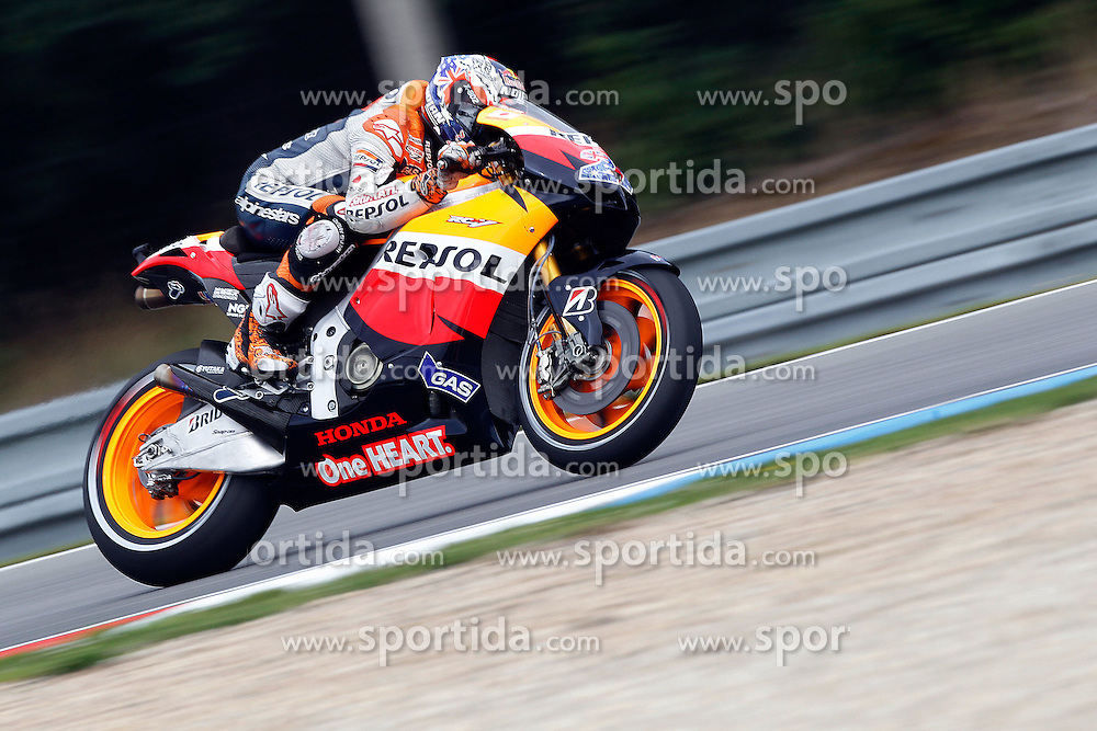 12.08.2011, Automotodrom, Brno, CZE, MotoGP, Cardion ab Grand Prix Ceske republiky, im Bild Casey Stoner - Repsol Honda team. EXPA Pictures © 2011, PhotoCredit: EXPA/ InsideFoto/ Semedia +++++ ATTENTION - FOR AUSTRIA/AUT, SLOVENIA/SLO, SERBIA/SRB an CROATIA/CRO CLIENT ONLY +++++