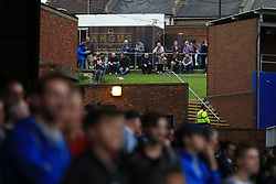14 October 2017 -  Premier League - Crystal Palace v Chelsea - Crystal Palace fans look on from an embankment behind the Holmesdale Stand - Photo: Marc Atkins/Offside