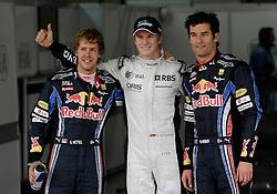 Motorsports / Formula 1: World Championship 2010, GP of Brazil, 05 Sebastian Vettel (GER, Red Bull Racing), 10 Nico Huelkenberg (GER, AT&T Williams),  06 Mark Webber (AUS, Red Bull Racing),