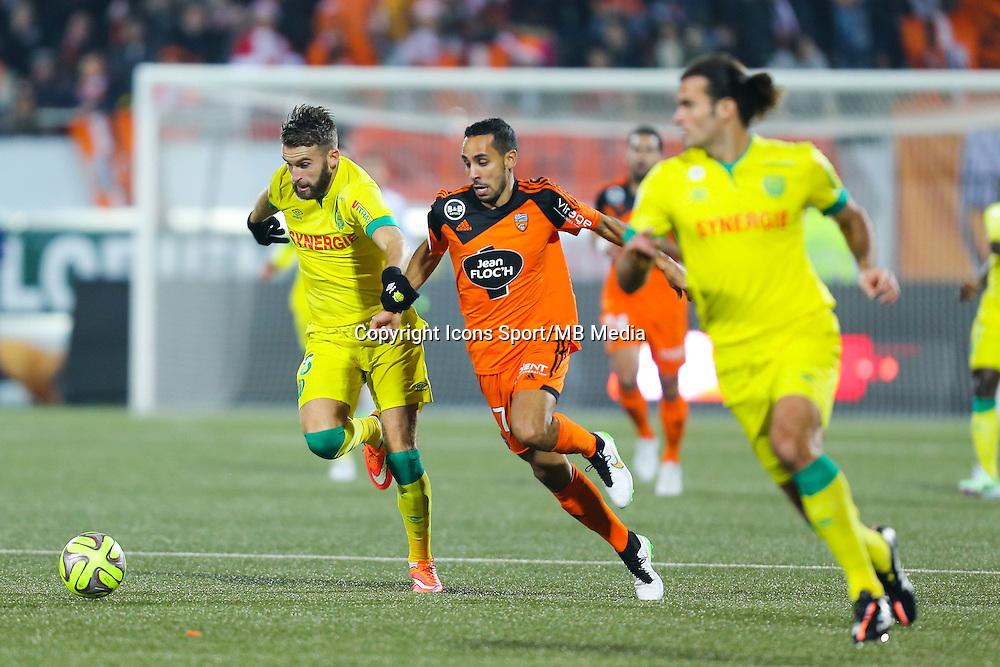 Lucas DEAUX / Walhid MESLOUB  - 20.12.2014 - Lorient / Nantes - 19eme journee de Ligue 1 -<br /> Photo : Vincent Michel / Icon Sport