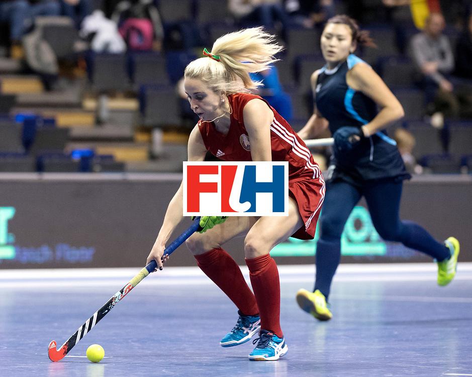 BERLIN - Indoor Hockey World Cup<br /> Women: Kazakhstan - Belarus<br /> foto: BELAVUSAVA Darya<br /> WORLDSPORTPICS COPYRIGHT FRANK UIJLENBROEK