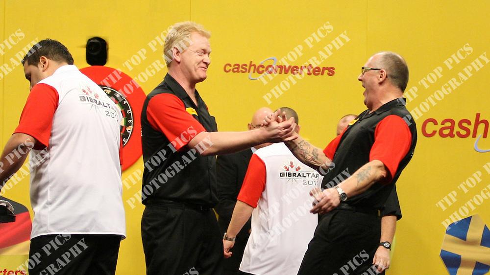 CASH CONVERTERS WORLD CUP OF DARTS 2012,Gibraltar ,Dylan Duo,Dyson Parody,Denmark,Per Laursen,Jann Hoffmann