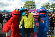 People participate in the Sesame Classic 5K during the Sesame Classic Sunday May 15, 2016 at Sesame Place in Langhorne, Pennsylvania. (Photo by William Thomas Cain)