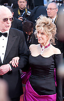 Actor Michael Caine and Actress Jane Fonda,<br /> at the gala screening for the film Youth at the 68th Cannes Film Festival, Wednesday May 20th 2015, Cannes, France.