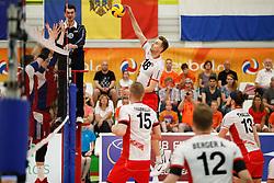 20170525 NED: 2018 FIVB Volleyball World Championship qualification, Koog aan de Zaan<br />Paul Buchegger (18) of Austria<br />©2017-FotoHoogendoorn.nl / Pim Waslander
