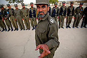 Arkansas Democrat-Gazette/BENJAMIN KRAIN 11-2-03<br /> Capt. Ghulam Rasoul commands some of more than 300 new police officers at a compound in Mazar-I-Sharif. Mohammad Akram Khakrizwal, the newly appointed police chief says maintaing security in the Northern region of Afghanistan is an essential step in the central government's effectiveness nationwide. He recently took over from the previous chief, who was invovled in factional disputes in Balkh Province.