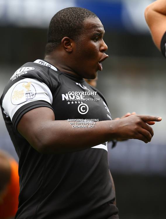 DURBAN, SOUTH AFRICA - SEPTEMBER 10: Khuthazani Mchunu (Captain) of the Cell C Sharks Under 19's during the Currie Cup U19 match between the Sharks and Free State at Growthpoint Kings Park on September 10, 2016 in Durban, South Africa. (Photo by Steve Haag/Gallo Images)