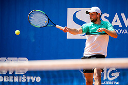 Tim Kocevar Desman of team West in action during Day 2 of tennis tournament Mima Jausovec cup where compete best Slovenian tennis players of the East and West, on June 7, 2020 in RCU Lukovica, Slovenia. Photo by Matic Klansek Velej / Sportida
