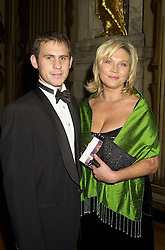 Actress AMANDA REDMAN and MR DAMIAN SCHNABEL, at a concert in London on 16th October 2000.OHW 5