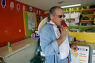 Jay Johnson Castro stops at a paleteria in Laredo, where the owner offered him free paletas, or popsicles in english.