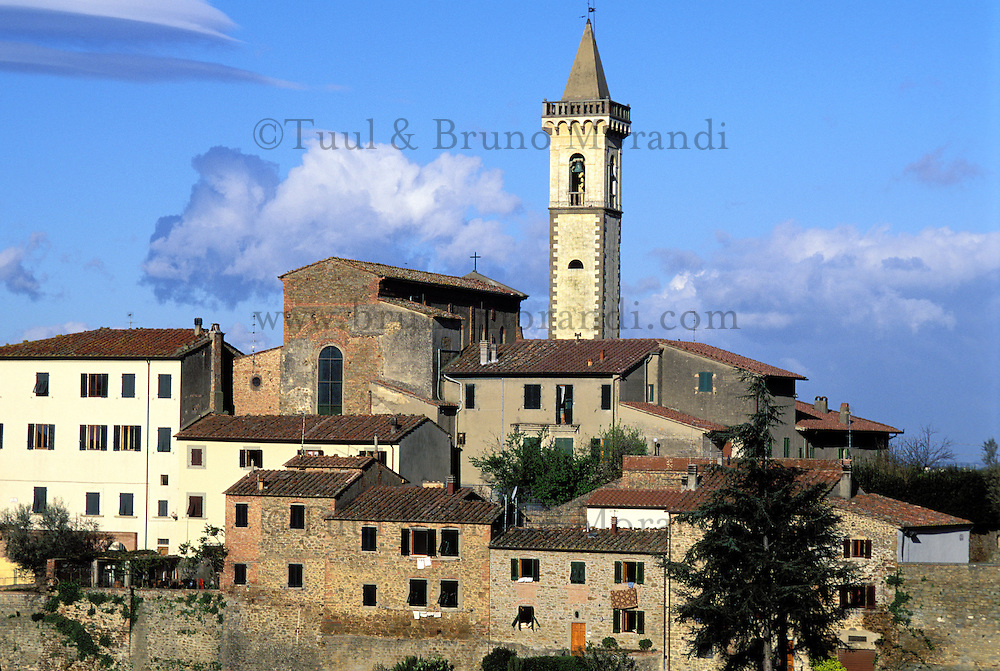 Italie - Toscane - Province de Pise  - Village de Vinci - Lieu de naissance de Leonardo (léonard) da Vinci. // Italy, Tuscany, Vinci village