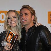 NLD/Amsterdam/20140205 - Uitreiking 100% NL Awards 2013,  Ilse de Lange en John Ewbank