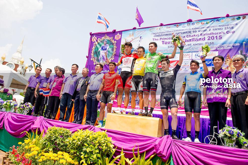 Tour of Thailand 2015/ Stage2/ Buri Ram - Roi-Et/ Hengxiang/ Ma Guang Tong/ Uchima Kohei/ Bridgestone Anchor/ Park Sung Baek/ Seo Joon Yong/ KSPO